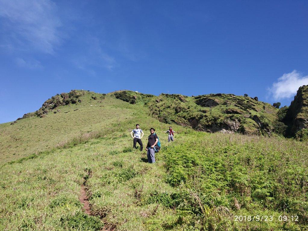 Steep trek